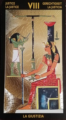 ネフェルタリタロット 『正義』のカード