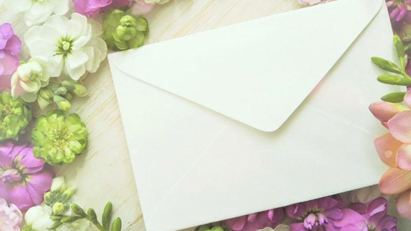 メッセージが入った封筒