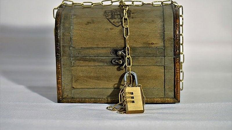 宝物を隠した箱